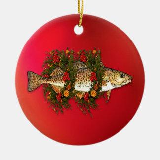 Ornamento del bacalao del navidad adorno