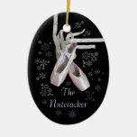 """Ornamento """"del ballet del cascanueces"""" adorno navideño ovalado de cerámica"""