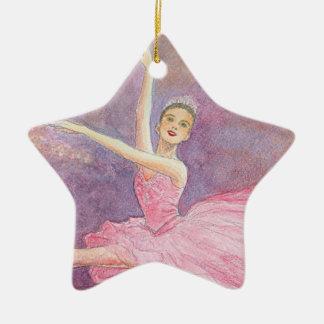 Ornamento del ballet - hada del ciruelo del azúcar adorno de cerámica en forma de estrella