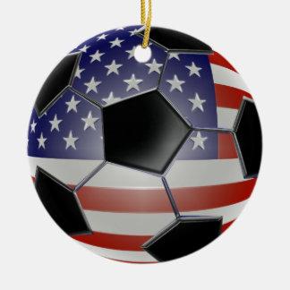 Ornamento del balón de fútbol de los E.E.U.U. Ornamentos De Reyes Magos