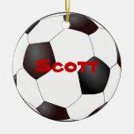 Ornamento del balón de fútbol ornamento para reyes magos