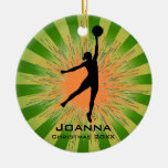 Ornamento del baloncesto de las mujeres ornaments para arbol de navidad