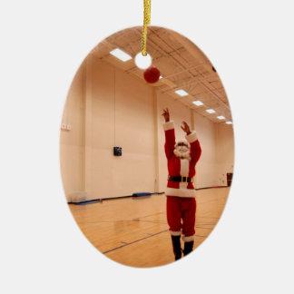 Ornamento del baloncesto de Papá Noel del Adorno Para Reyes
