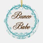 Ornamento del bebé de Bunco Adorno Redondo De Cerámica