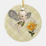 Ornamento del bebé de la abeja adornos de navidad