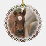 Ornamento del bebé del caballo ornaments para arbol de navidad