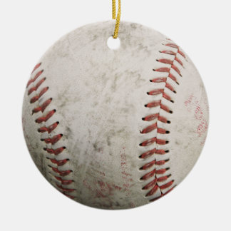 ornamento del béisbol adorno navideño redondo de cerámica