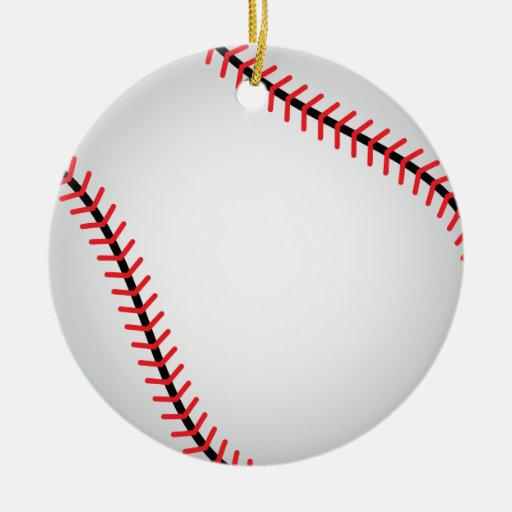 Ornamento del béisbol - SRF Adorno Navideño Redondo De Cerámica