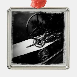 Ornamento del Benz Adorno Navideño Cuadrado De Metal