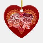 Ornamento del boda del Los Novios Adornos De Navidad