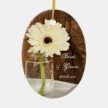 Ornamento del boda del país del tarro de albañil y adorno para reyes