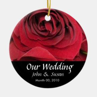 Ornamento del boda del rosa rojo ornamento para reyes magos