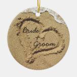 Ornamento del boda del tema de la playa ornato