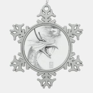 Ornamento del bosquejo del dragón de Shivan Adorno De Peltre En Forma De Copo De Nieve