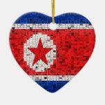 Ornamento del brillo de la bandera de Corea del No Ornamento De Reyes Magos