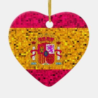 Ornamento del brillo de la bandera de España Ornamente De Reyes