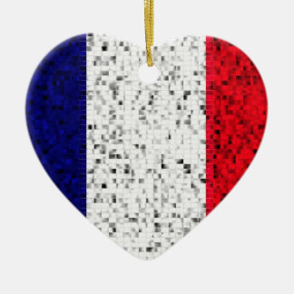 Ornamento del brillo de la bandera de Francia Ornamento Para Reyes Magos