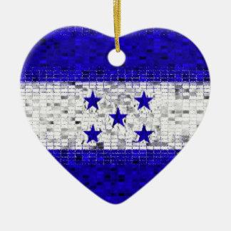 Ornamento del brillo de la bandera de Honduras Adorno De Navidad