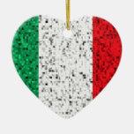Ornamento del brillo de la bandera de Italia Adornos De Navidad