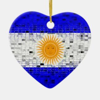 Ornamento del brillo de la bandera de la Argentina Ornamentos De Reyes