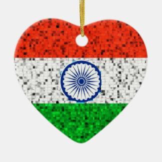 Ornamento del brillo de la bandera de la India Adorno De Reyes