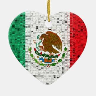 Ornamento del brillo de la bandera de México Ornatos