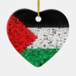 Ornamento del brillo de la bandera de Palestina Ornamento Para Arbol De Navidad