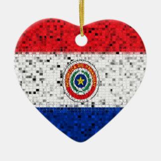 Ornamento del brillo de la bandera de Paraguay Ornamente De Reyes