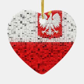Ornamento del brillo de la bandera de Polonia Ornamente De Reyes