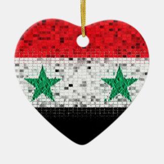 Ornamento del brillo de la bandera de Siria Adornos De Navidad