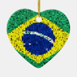 Ornamento del brillo de la bandera del Brasil Ornato