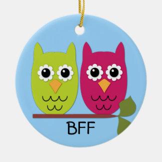 Ornamento del búho de BFF Adorno De Navidad