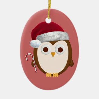 Ornamento del búho del navidad adornos de navidad