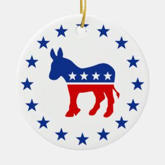Ornamento del burro de Demócrata Ornamento Para Reyes Magos
