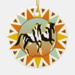 Ornamento del caballo de la pintura de la estrella ornaments para arbol de navidad
