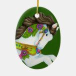 Ornamento del caballo del carrusel de Gayle Ornamento De Reyes Magos