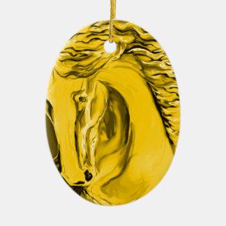 Ornamento del caballo del oro ornamento para reyes magos