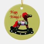 Ornamento del caballo mecedora del día de fiesta ornamentos de navidad