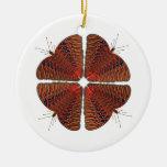 Ornamento del caleidoscopio de la mariposa ornamentos de reyes