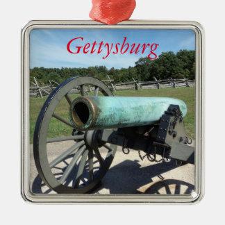 Ornamento del campo de batalla de Gettysburg Adorno Navideño Cuadrado De Metal
