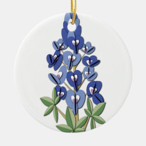 Ornamento del campo del Bluebonnet Ornamentos De Navidad