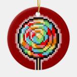 Ornamento del caramelo del Lollipop del arte del p Adorno