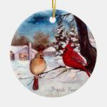 Ornamento del cardenal de la serenidad de los ornamentos de navidad