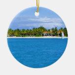 Ornamento del Caribe del navidad Adorno Navideño Redondo De Cerámica