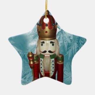 Ornamento del cascanueces de la estrella adorno navideño de cerámica en forma de estrella