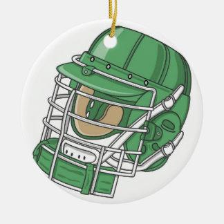 ornamento del casco del lacrosse ornamento de navidad