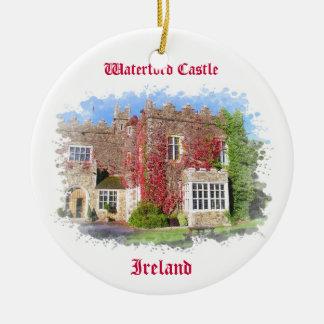 Ornamento del castillo de Waterford Adorno Navideño Redondo De Cerámica