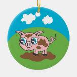Ornamento del cerdo adornos de navidad