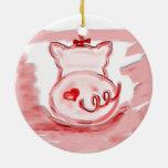 Ornamento del cerdo, ornamento del regalo de la ornamento de navidad