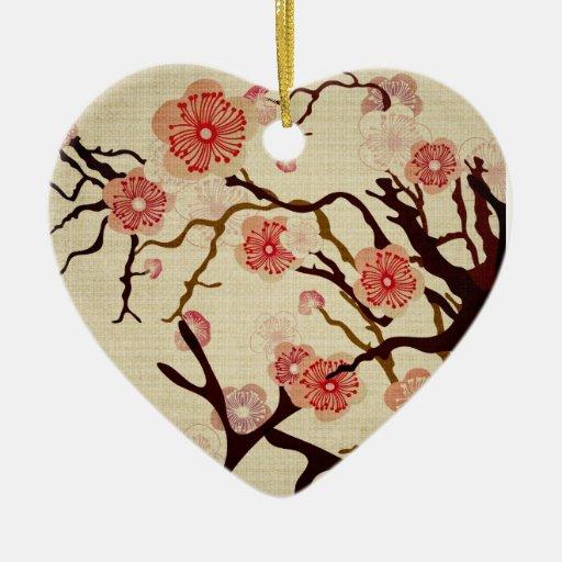 Ornamento del cerezo del vintage adornos
